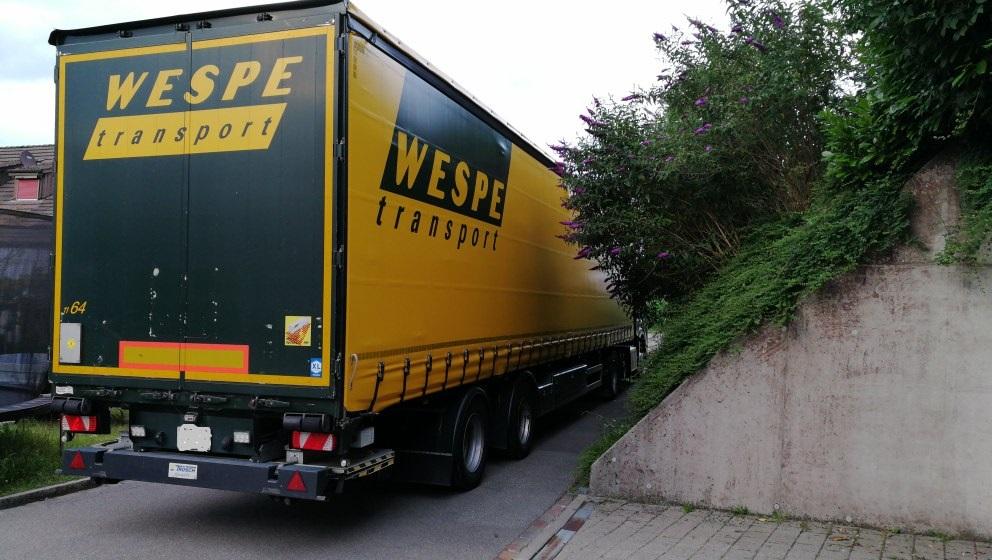 Lastwagen mit Prongs